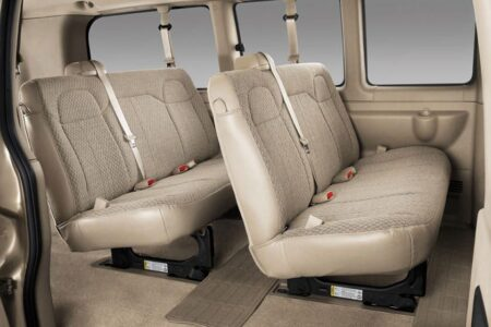 2021 Chevy Express Passenger Van Seat Covers Conversion 1lt Graystone